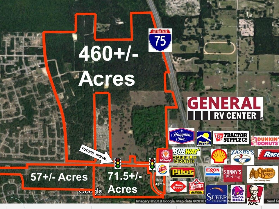600+/- commercial acres along 484 and I75